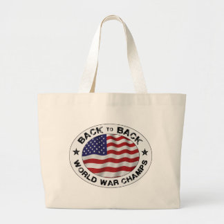 Back to Back World War Champs Large Tote Bag
