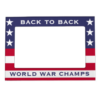 Back to Back World War Champs Magnetic Photo Frame