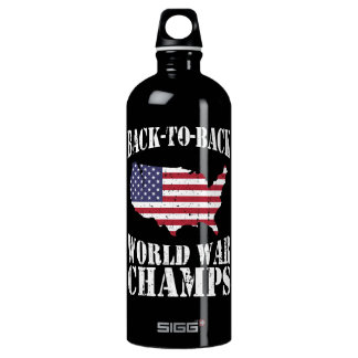 Back-to-Back World War Champs - Patriotic Aluminum Water Bottle