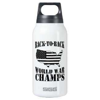 Back-to-Back World War Champs - Patriotic Insulated Water Bottle