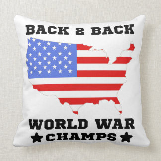 Back To Back World War Champs Throw Pillow