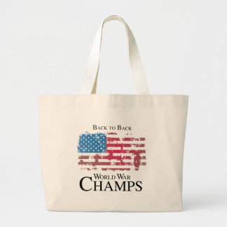 Back to back world war champs png canvas bags