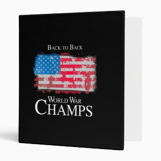 Back to Back World War Champs - png 3 Ring Binders