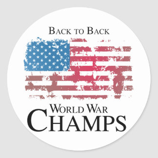 Back to back world war champs.png classic round sticker