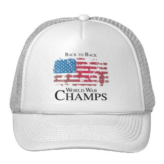 BACK TO BACK WORLD WAR CHAMPS png Trucker Hat