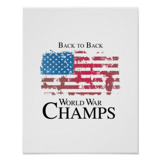 Back to back world war champs png print
