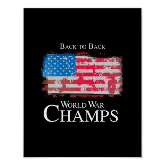 Back to Back World War Champs - png Print