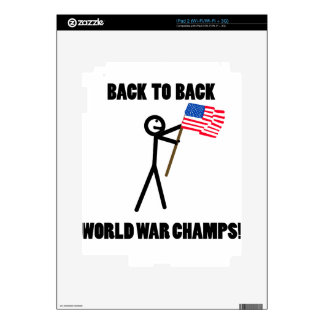 Back to Back World War Champs Skin For The iPad 2