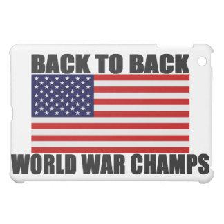 Back To Back World War Champs US Flag iPad Case