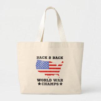Back To Back World War Champs vintage Bag