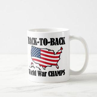 Back-To-Back WW Champs, USA Shape Coffee Mug