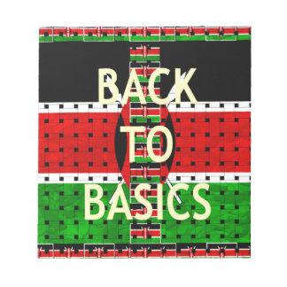 Back to Basics Memo Note Pad