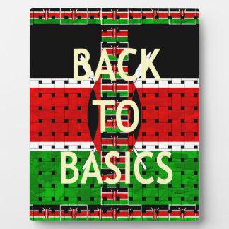 Back to Basics Plaque