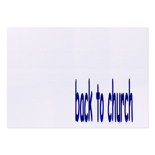 Back to church business card templates zazzle for Church business cards templates free
