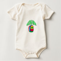 Back to go school fresh color green baby bodysuit