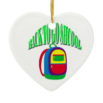 Back to go school fresh color green ceramic ornament