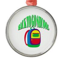 Back to go school fresh color green metal ornament