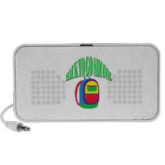 Back to go school fresh color green iPod speaker