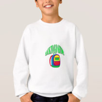 Back to go school fresh color green sweatshirt