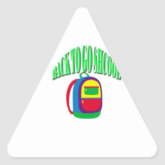 Back to go school fresh color green triangle sticker