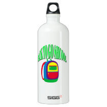 Back to go school fresh color green water bottle