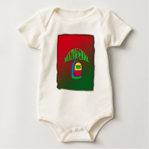 Back to go school with background baby bodysuit