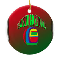 Back to go school with background ceramic ornament