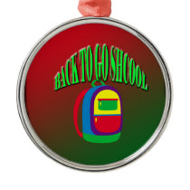 Back to go school with background metal ornament