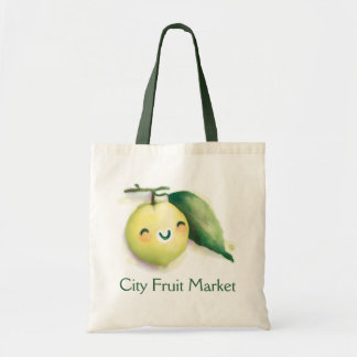 back to lime canvas bags