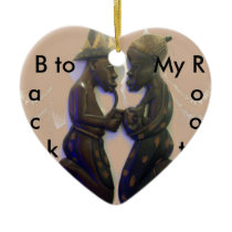 Back to my Roots ceramic Heart Ornament