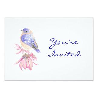 Back to Nature, Bluebird, Bird , Birthday Party Card