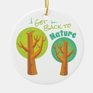 Back To Nature Ceramic Ornament