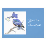 Back to Nature, Kingfisher, Bird , Birthday Party Personalized Announcement