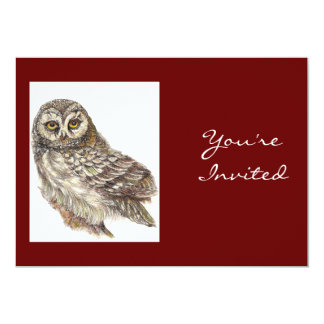 Back to Nature, Owl, Bird, Birthday Party 5x7 Paper Invitation Card