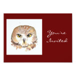 Back to Nature, Owl, Birthday Party 5x7 Paper Invitation Card
