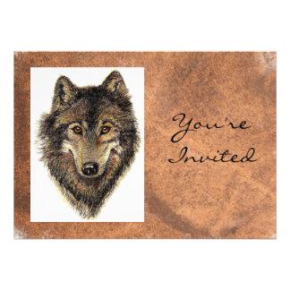 Back to Nature Wolf Animal Birthday Invite