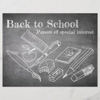 Back to School in chalkboard style