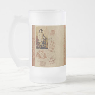 Back to School 16 Oz Frosted Glass Beer Mug
