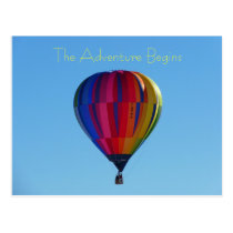 Back to School Adventure Hot Air Balloon Postcard