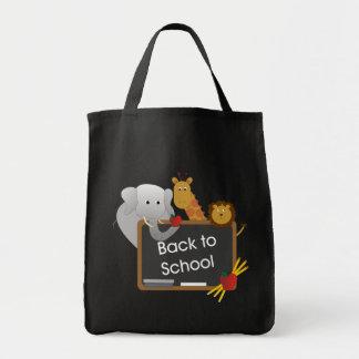 Back To School Animals Canvas Bag