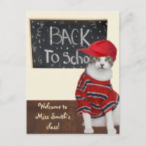 Back to School Announcement Postcard
