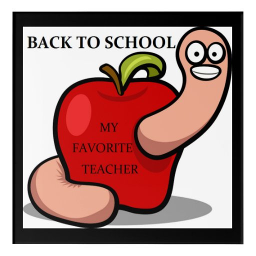 Back to school apple acrylic wall art zazzle for Back to school wall decoration