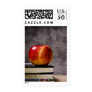 Back to School Apple & Books Chalkboard Stamp