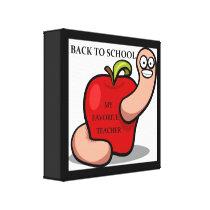"""BACK TO SCHOOL"" APPLE CANVAS PRINT"