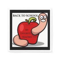 """BACK TO SCHOOL"" APPLE NAPKIN"