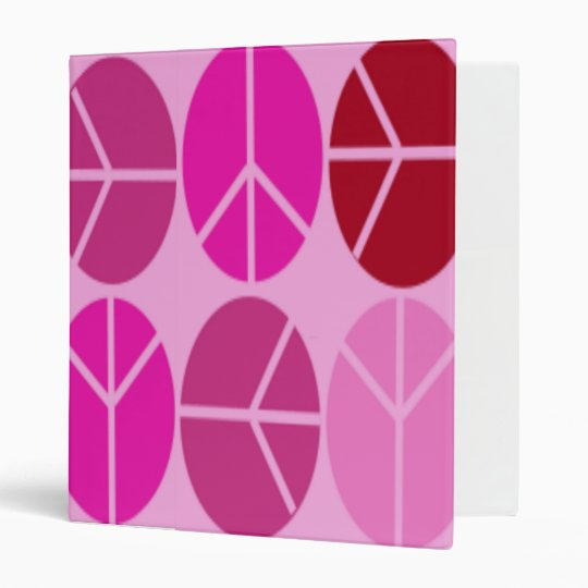 BACK TO SCHOOL - AVERY PEACE SIGN PINK BINDERS