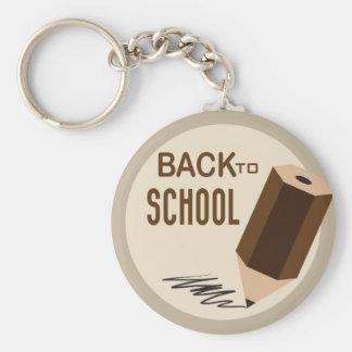 Back To School Basic Round Button Keychain