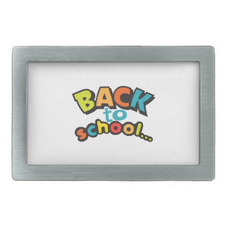 BACK TO SCHOOL RECTANGULAR BELT BUCKLE