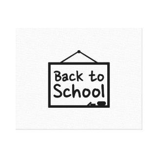 Back to School Blackboard Gallery Wrap Canvas