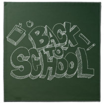 Back To School Blackboard Cloth Napkin